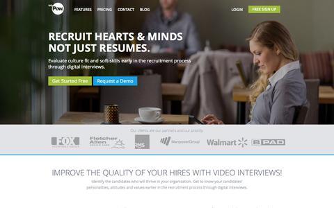 Screenshot of Blog wepow.com - Digital Interviews - Video Recruitment | WePow - captured Sept. 17, 2014