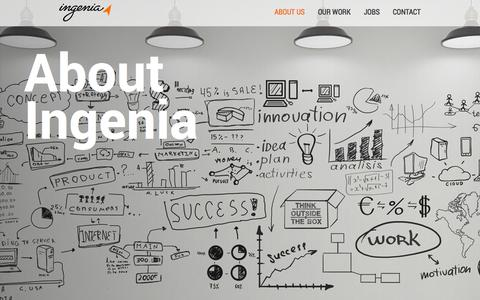 Screenshot of About Page ingenia.com - Ingenia Agency - About Us - captured Sept. 19, 2014
