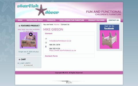 Screenshot of Contact Page starfishdecor.co.za - Starfish Decor - Contact Us - captured Nov. 7, 2018