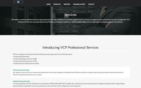 Screenshot of Services Page vcp.net.my - VCP Professional Services, Authorized Nutanix Partner Network | VCP Malaysia - captured Oct. 21, 2017