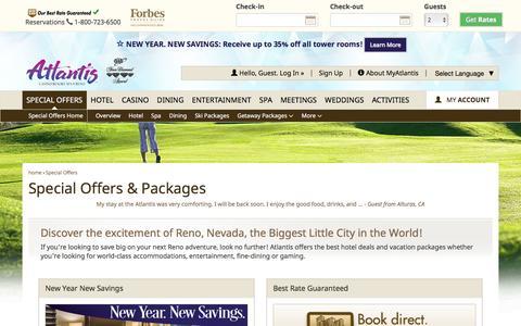 Screenshot of atlantiscasino.com - Reno Hotel Deals and Offers | Atlantis Casino Resort Spa - captured Jan. 10, 2017