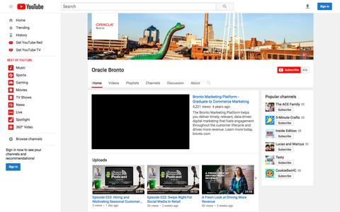 Oracle Bronto  - YouTube