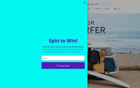 Screenshot of Home Page degree33surfboards.com - Degree 33 Surfboards | The #1 Online Surfboard Brand in the US - captured Nov. 6, 2018