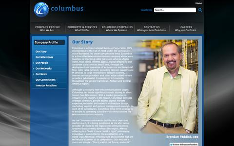 Screenshot of Team Page columbuscommunications.com - Columbus Communications - Our People - captured Oct. 2, 2014