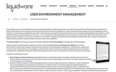 Screenshot of Team Page liquidware.com - User Environment Management - Liquidware - captured Dec. 14, 2019