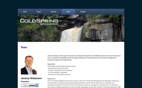 Screenshot of Team Page coldspring.ca - Team - ColdSpring Commerce - captured Nov. 8, 2016