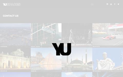Screenshot of Contact Page yuspaces.com - Contact Us – YU - captured Feb. 19, 2020