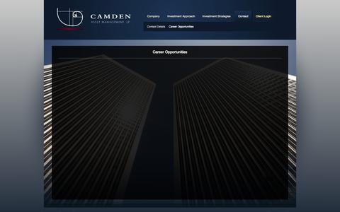 Screenshot of Jobs Page camdenasset.com - Career Opportunities - Camden Asset Management, LP - captured Oct. 1, 2014