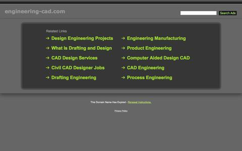 Screenshot of Home Page engineering-cad.com - Engineering-Cad.com - captured Nov. 7, 2016
