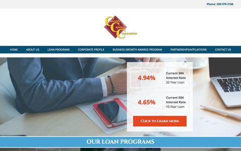 Screenshot of Home Page cascadecapital.org - Cascade Capital Corporation - captured Feb. 23, 2018