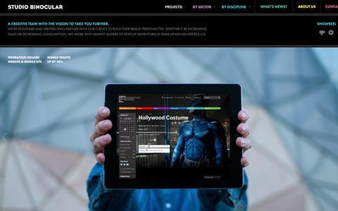 Screenshot of Home Page studiobinocular.com - HOME - Studio Binocular - captured Oct. 20, 2018