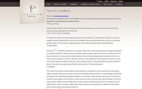 Screenshot of Terms Page theplatinumhotel.com - Terms of Use   Platinum Hotel and Spa   Off-strip Hotel Las Vegas - captured Oct. 2, 2014