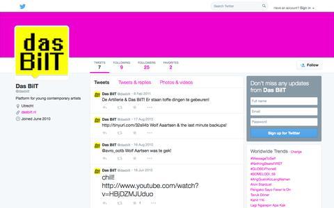 Screenshot of Twitter Page twitter.com - Das BilT (@dasbilt)   Twitter - captured Oct. 23, 2014