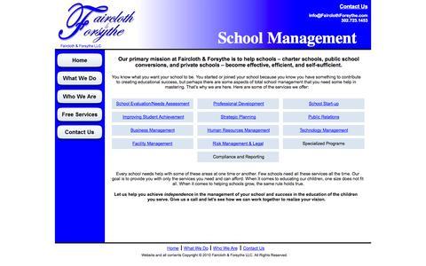 Screenshot of Home Page fairclothforsythe.com - Faircloth & Forsythe - Home - captured Oct. 5, 2014