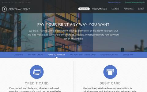 Screenshot of Signup Page rentpayment.com - Ways To Pay Your Rent - captured April 4, 2018