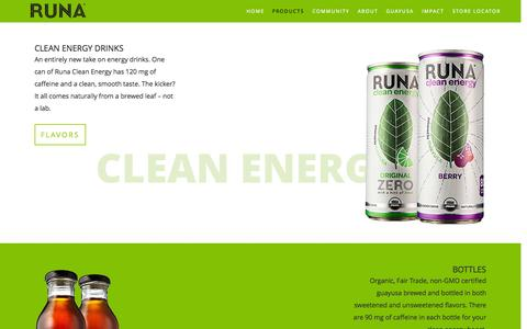 Screenshot of Products Page runa.org - Runa   Products - captured Nov. 12, 2015