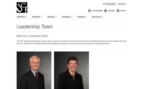 Screenshot of Team Page ucfinc.com - United Corporate Furnishings Management Team - captured Oct. 18, 2018