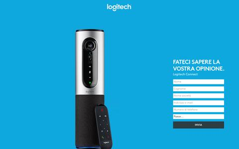 Screenshot of Landing Page logitech.com - Logitech Connect | Contact Us - captured May 24, 2017