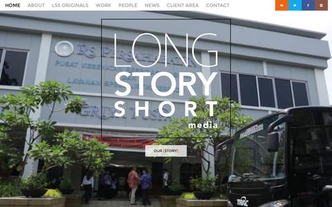 Screenshot of Home Page lssmedia.com - Long Story Short Media - Long Story Short Media Home - Long Story Short Media - captured Dec. 21, 2015