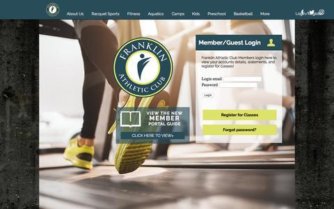 Screenshot of Login Page franklinclub.com - Member Login    Southfield, MI    Franklin Athletic Club - captured Oct. 14, 2017