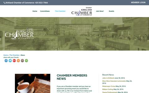 Screenshot of Press Page kirklandchamber.org - News - Greater Kirkland Chamber of Commerce - captured Nov. 15, 2016