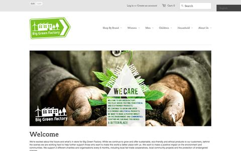Screenshot of Home Page biggreenfactory.com - Big Green Factory - captured Sept. 30, 2014