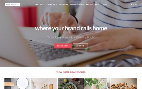 Screenshot of Home Page brandspot.co - brandspot.co - captured Sept. 2, 2015