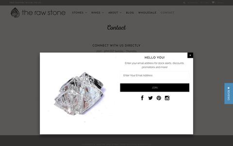 Screenshot of Contact Page therawstone.com - Contact The Raw Stone - Rough Diamonds & Raw Stone Engagement Rings - captured Nov. 19, 2018