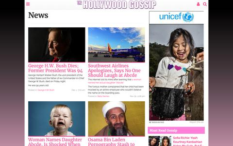 Screenshot of Press Page thehollywoodgossip.com - News - The Hollywood Gossip - captured Dec. 11, 2018
