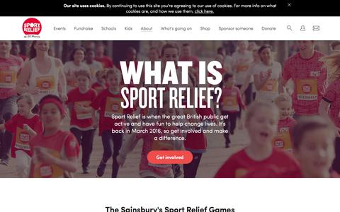 Screenshot of About Page sportrelief.com - About Sport Relief   Sport Relief 2016 - captured Feb. 20, 2016