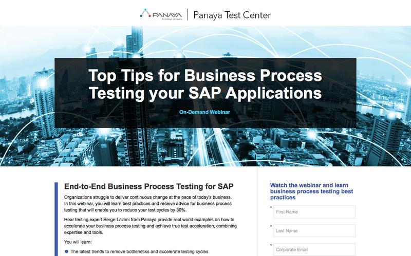 Top Tips for Business Process Testing your SAP Applications