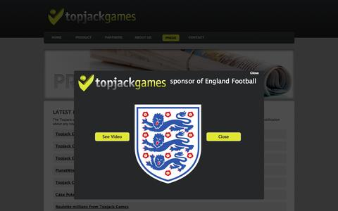 Screenshot of Press Page topjackgames.com - Press | Topjack Games - captured Dec. 19, 2016