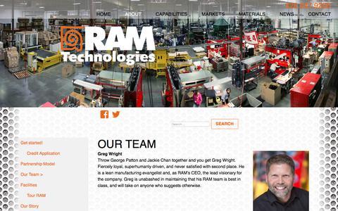 Screenshot of Team Page ramtechnologies.com - Our Team - RAM Technologies - captured Oct. 27, 2017