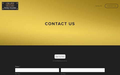 Screenshot of Contact Page gvssafety.com - Contact Us — GVS - captured Oct. 1, 2014