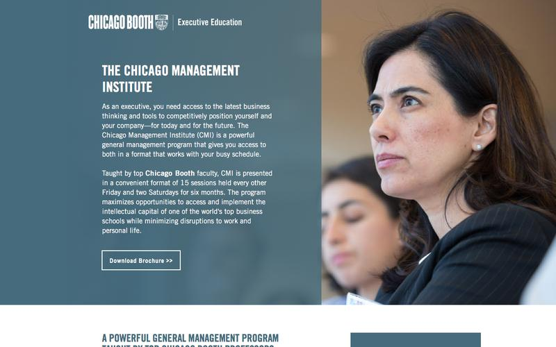 Executive Education at Chicago Booth | The Chicago Management Institute