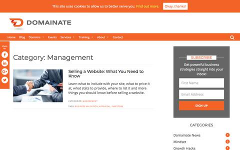 Screenshot of Team Page domainate.com - Management Archives - Domainate - captured Aug. 7, 2018