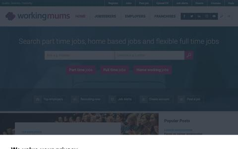 Screenshot of Home Page workingmums.co.uk - Home - Working Mums - captured Nov. 17, 2018