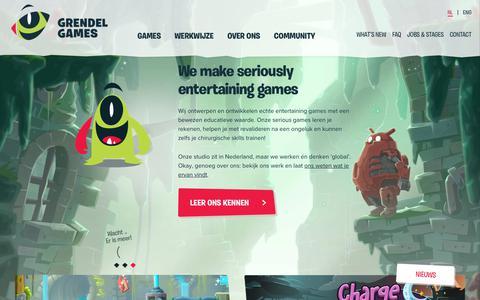 Screenshot of Home Page grendel-games.com - Grendel Games - Seriously Entertaining - captured July 25, 2018