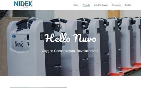 Screenshot of Products Page nidekmedical.com - Products – Nidek Medical Products Inc. - captured June 6, 2019