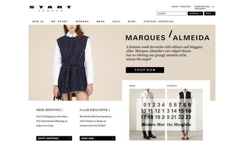 Screenshot of Home Page start-london.com - Start London | Luxury Designer Clothing for Men & Women - captured Sept. 25, 2014
