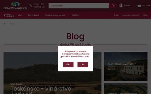 Screenshot of Blog global-wines.sk - Blog   Global Wines & Spirits - captured Oct. 27, 2018