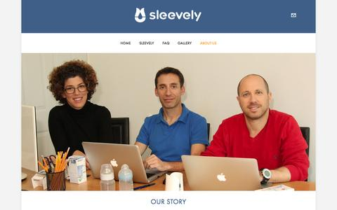 Screenshot of About Page sleevely.com - About us — Sleevely - captured Oct. 7, 2014