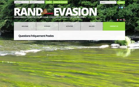 Screenshot of FAQ Page randoevasion.be - 63. FAQs - captured June 3, 2016
