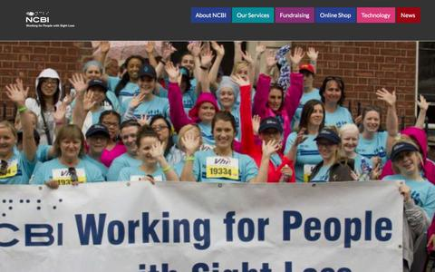 Screenshot of Home Page ncbi.ie - NCBI – Working for people with sight loss - captured Nov. 29, 2016