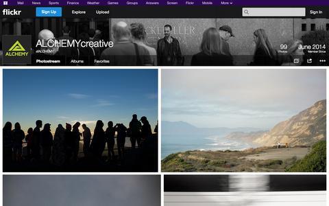 Screenshot of Flickr Page flickr.com - Flickr: sfALCHEMY's Photostream - captured Oct. 29, 2014