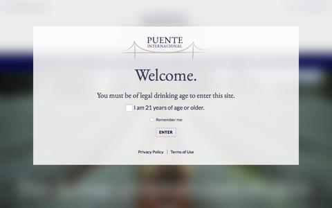 Screenshot of Products Page puente-internacional.com - Products - captured Nov. 13, 2016