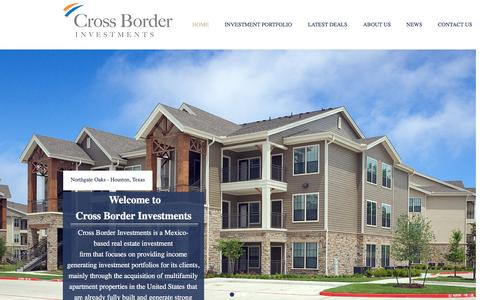 Screenshot of Home Page crossborder.com.mx - Cross Border Investments - captured Nov. 14, 2016