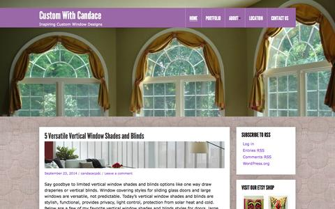 Screenshot of Blog cpdcdecor.com - Custom With Candace - Inspiring Custom Window Designs - captured Oct. 1, 2014