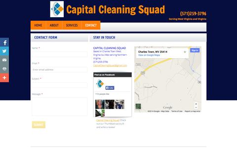 Screenshot of Privacy Page Contact Page capitalcleaningsquad.com - Contact - captured Oct. 22, 2014