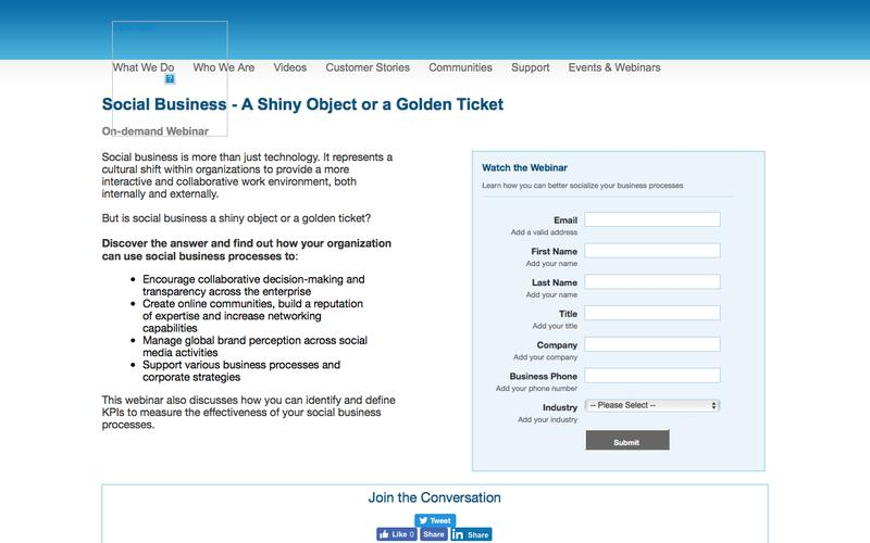 Social Business - A Shiny Object or a Golden Ticket